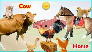 Learn the favorite foods of farm animal toys in BonBi TV