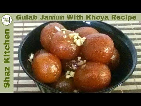 Gulab Jamun With Khoya Original Recipe/Pakistani Sweet(In Urdu/Hindi)How To Make Gulab Jamun At Home