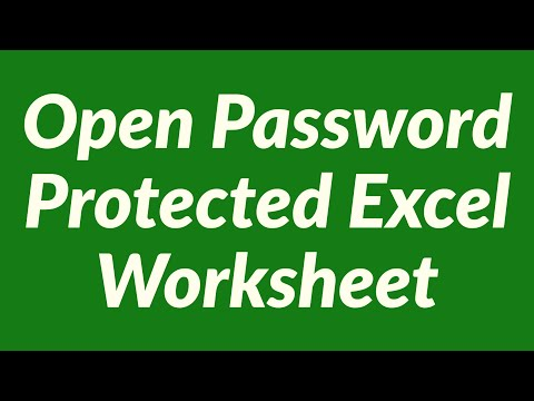 Open password protected Excel-worksheet - lost password