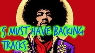 5 Must Have Jimi Hendrix Inspired Backing tracks (foxy lady & more)