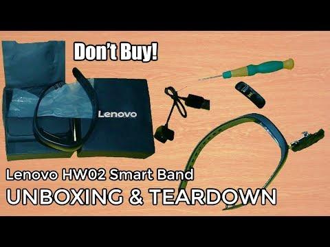 Lenovo HW02 Smartband Unboxing & Teardown   Don't Buy!