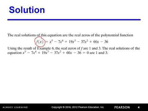 4.5 obj 5 Solving Polynomial Equations