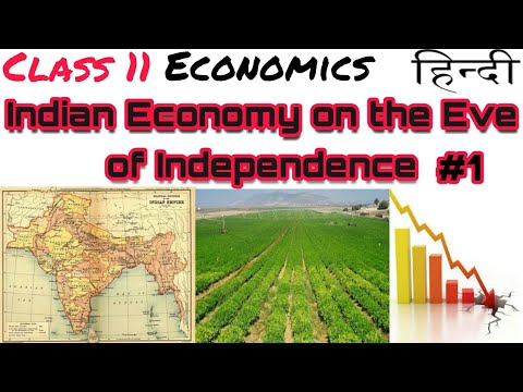 (Hindi) Class 11 | Economics | Indian Economy on the Eve of Independence #1