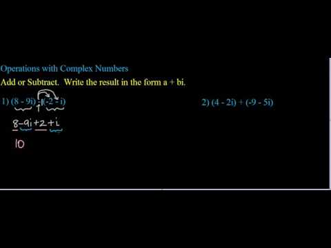 Operations with Complex Numbers Ex  1