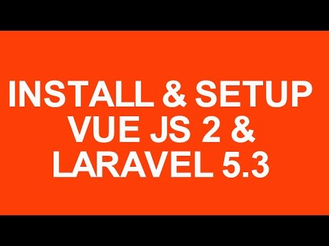 Laravel 5.3 With Vue Js 2 Crud Tutorial install and setup getting started