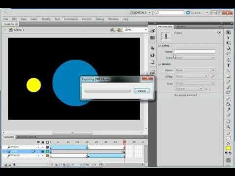 Flash CS5 - Layers and Motion Tweens
