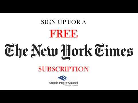 Free NYT Subscription