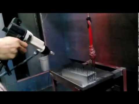 Liquid electrostatic spray gun demonstration