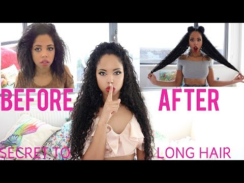 SECRET TO LONG CURLY HAIR QUICK