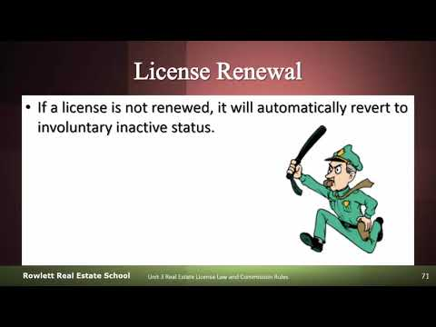 Renewal Of The Florida Real Estate License