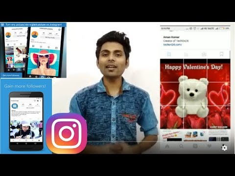 How To Tile Photos In Instagram, Grid Squares - Collage 2018 by TechOn24