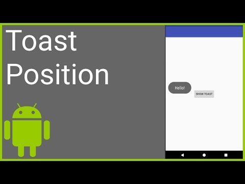 How to Change the Position of the Default Toast - Android Studio Tutorial