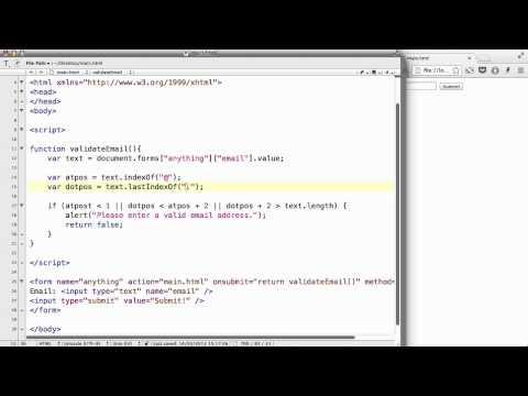 JavaScript - 44. Simple form email validation