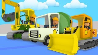 Construction Vehicles At Carl's Car Wash | Cartoon For Kids