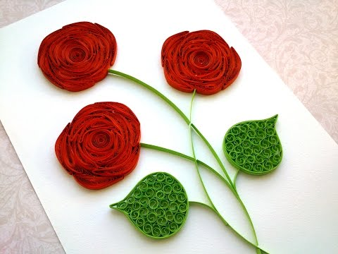 Quilling Rose Tutorial: How to make a rose with a paper stripe. Quilling rose making