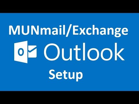 How to add MUNmail (Gmail) or Exchange account to Outlook 2013/2016