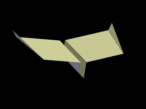1983 World Record Paper Airplane: 3D Folding