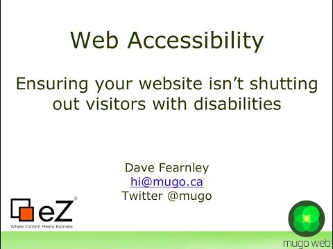 Web Accessibility - Making Your Website Accessible to Visitors with Disabilities