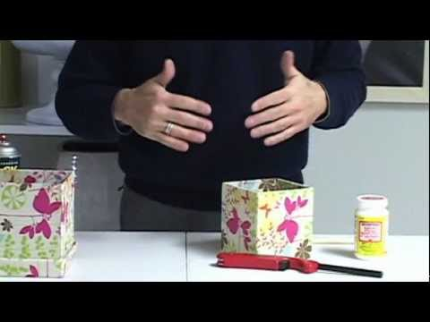 FR Presents:  How To Cover a Box with Fabric to Create a Custom Container