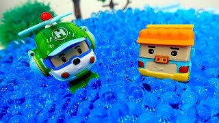 Coches para niños - Videos de juguetes - Coche de policia - Camión de bomberos - 로보카 폴리 장난감들