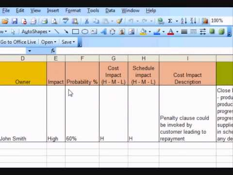 Example Risk Register how to create a risk register using excel