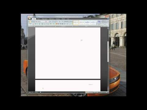 Adding a Header and Page number in Microsoft Office 2007