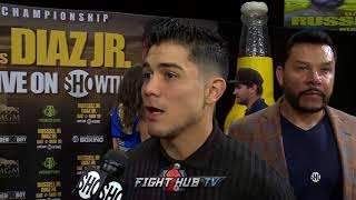 """JOSEPH DIAZ JR """"IM NOT GONNA BACK DOWN! IM GOING TO PUSH RUSSELL TO THE LIMIT!"""""""