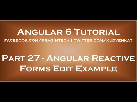 Angular reactive forms edit example
