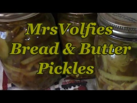 Bread And Butter Pickles!