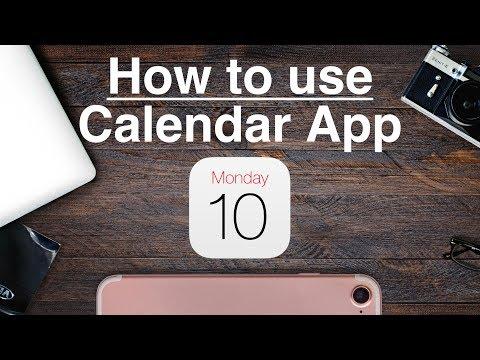 How to Use - iPhone Calendar App