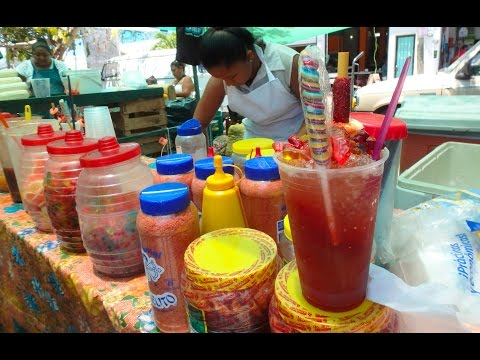 Chamoy drink in Cancun