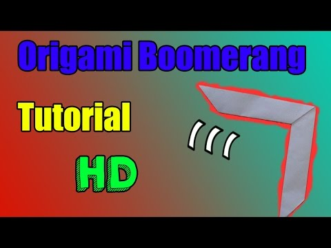 How To Make an Origami Boomerang  (Tutorial)