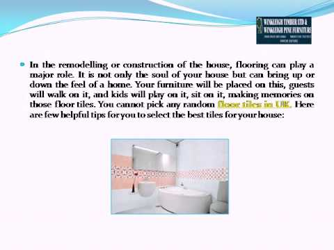 How you can choose floor tiles for your house