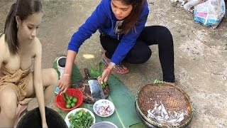 Traditional Food in Cambodia | Country food in my village | Village Food