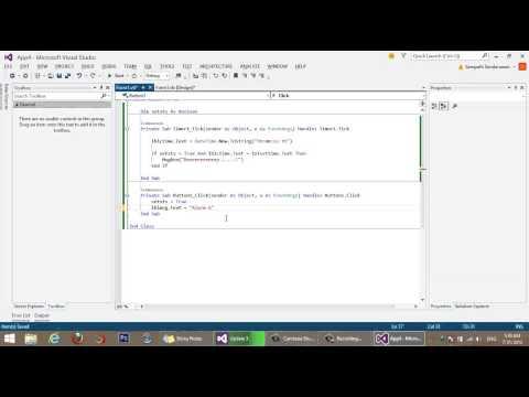 How to create simple Alarm clock in VB.NET