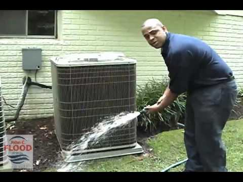 John C Flood Home Air Conditioning Condenser Cleaning Video
