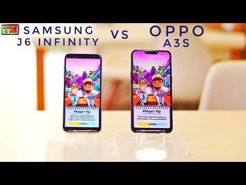 Oppo A3s Vs Samsung J6 Infinity Speed Test