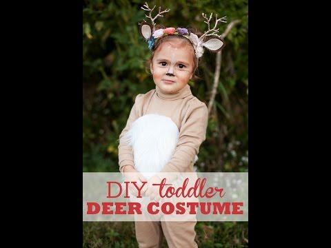 DIY Toddler Deer Costume