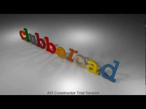 3D text by Google Sketchup + Kerkythea + AVI Constructor +Youtube