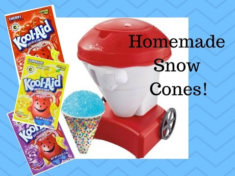 Homemade Snowcones and Flavors!
