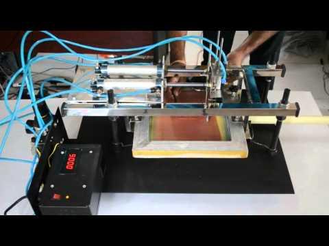 home made silk screen tube printer (Pneumatic)