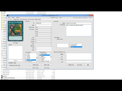 [YGOpro]: How to create and play with your Own Cards? (TUTORIAL)