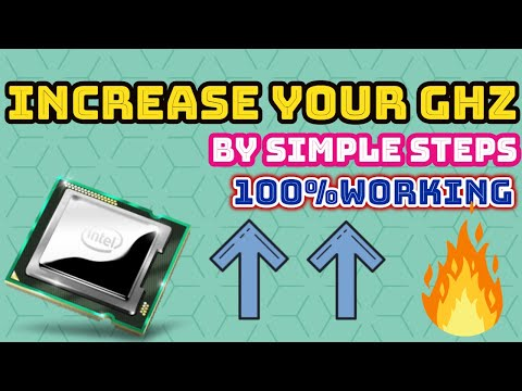 How To Increase Your GHz by Simple Steps 100%working