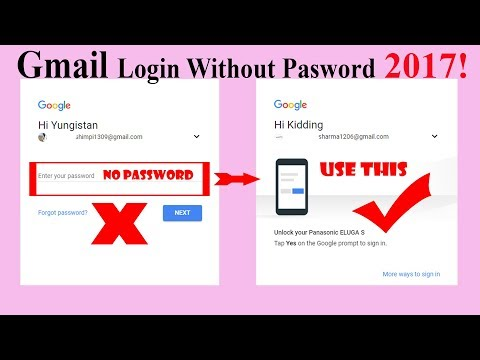 How to Login Gmail Account Without Password 2017!