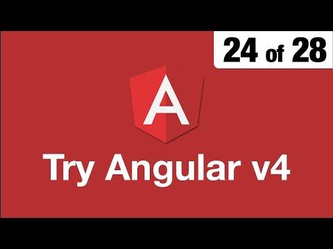 Try Angular v4 // 24 of 28 // Router Link & Improved Navigation