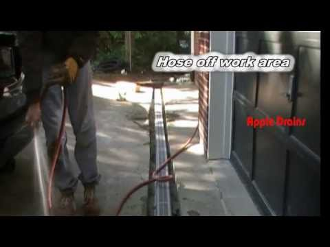 How To Install Trench Drain in Driveway, NDS Channel Drain, Driveway Drain, by Apple Drtains