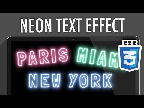 Neon Light Text Effect CSS | XO PIXEL