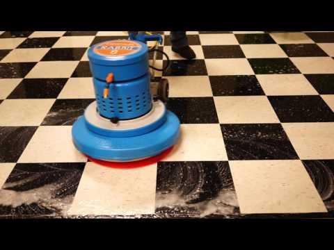 Applying Floor Sealer to a New Floor