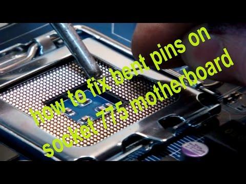 socket 775 pins damaged - fix a broken pin on motherboard - soldering lga pins