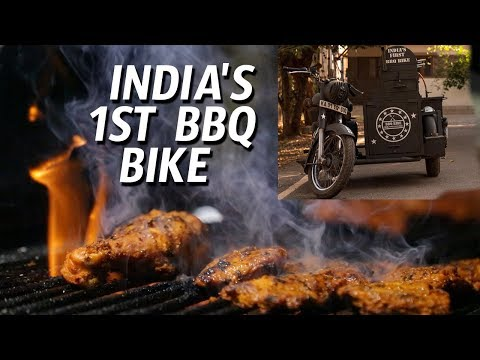 INDIA'S 1ST BBQ BIKE | BBQ on Royal Enfield | Best Barbeque in Hyderabad